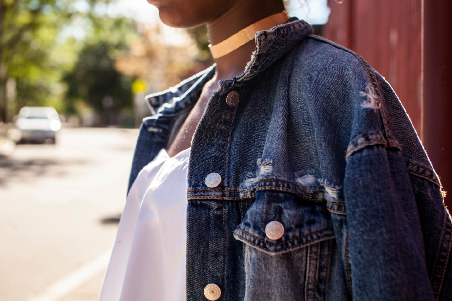 White After Labor Day / Zara Over Sized Denim Jacket