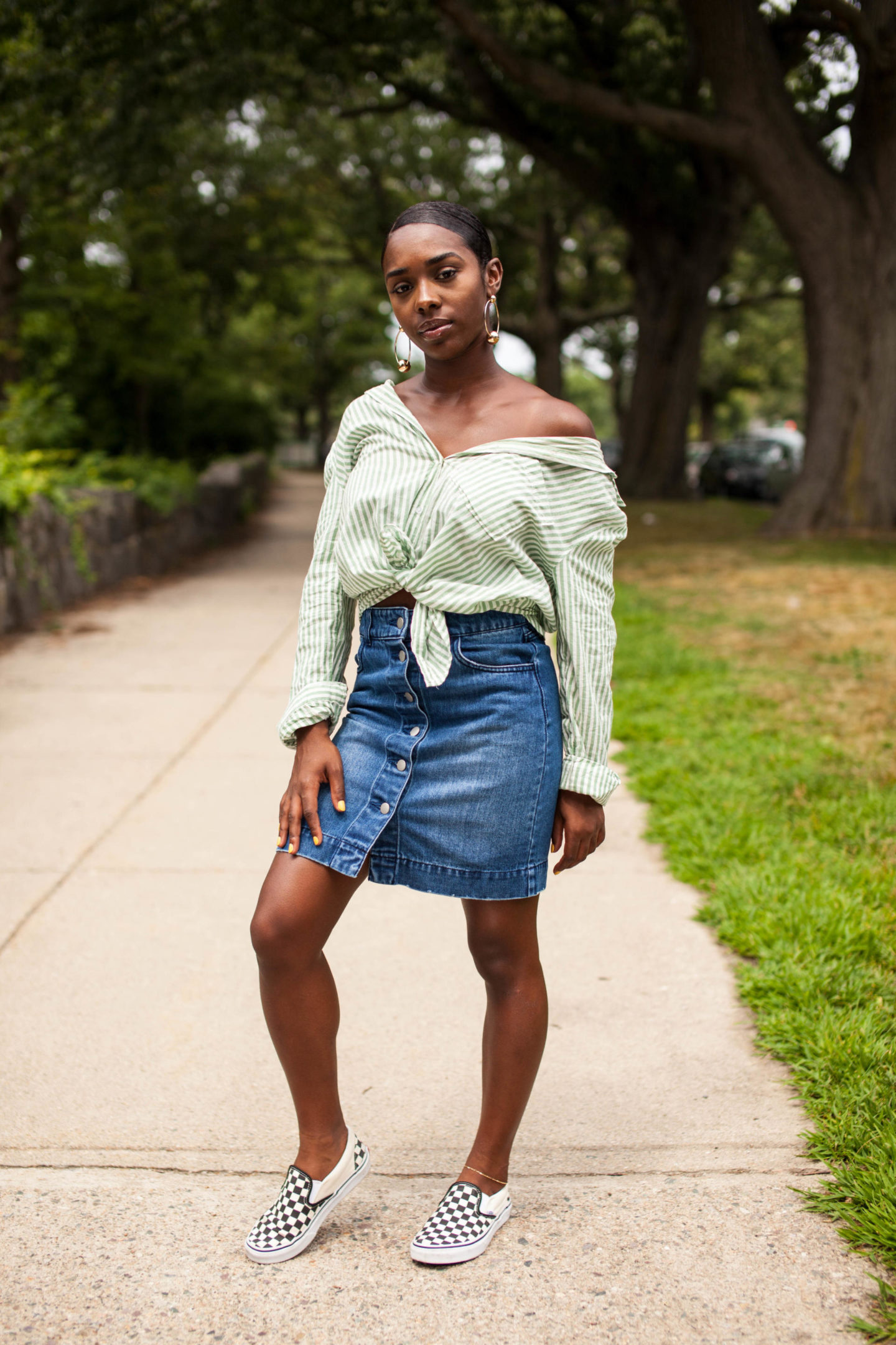 Easy Breezy Summer - Off the Shoulder Shirt
